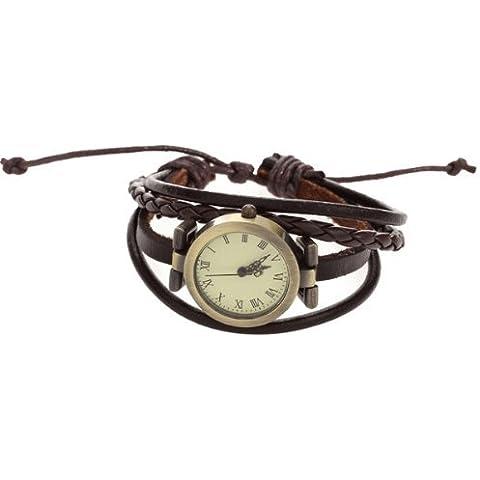 SODIAL(R) Bracciale Orologio da Polso al Quarzo