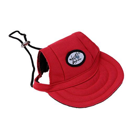 (Kleines Haustier Hund, Katze, Kätzchen Regenbogen Hundecap Baseball Mütze Gurt Hat Mütze Kappe Sunbonnet - #17, S)