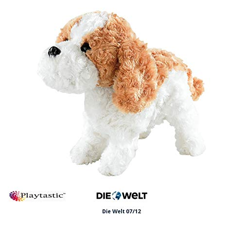 Playtastic Plüschhund mit Funktion: Plüsch-Funktionshund mit Akustik- & Berührungssensoren (Hund mit Funktion)