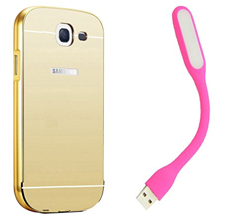 Novo Style Luxury Mirror Effect Acrylic back + Metal Bumper Cover for Samsung Galaxy Note 2 7100  Golden + Mini USB LED Light Adjust Angle / bendable Portable Flexible USB Light  available at amazon for Rs.329