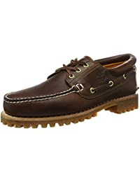 Timberland Men's Classic 3 Eye Lug Boat Shoe, Brown, 7 W US