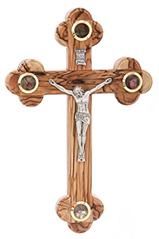 Zuluf Wall Catholic Orthodox Cross With Holy Land Items Christian