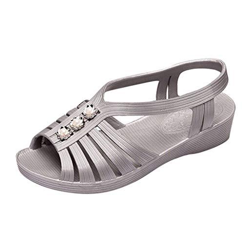 LuckyGirls Chic Sandalias Mujer Verano 2020 Playa Plana Zapatos Mujer Tacon Bajo Cuña Piscina Elegantes...