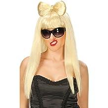 Peluca estilo Lady Gaga rubia de mujer 0