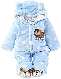 48e1238d7 De feuilles Unisex Infant Baby Cute Winter Warm Hooded Romper Jumpsuit Snowsuit  Clothing Outfit