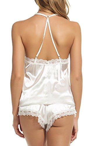 Avidlove Damen Schlafanzug Weiß