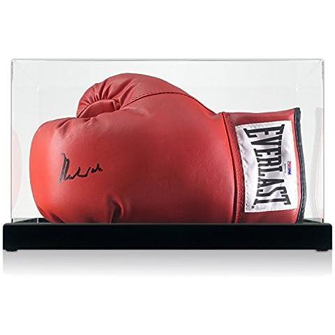 Muhammad Ali guantes de boxeo firmado en caja de la pantalla (PSA ADN 4A54131)