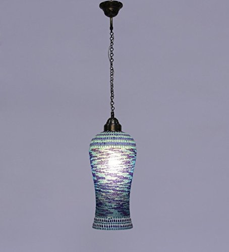 The Brighter Side Good Premium Quality Bluebell Mosaic Pendant for Room Office Home Decor