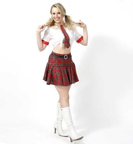 Britney Damen 2tlg m.Krawatte Gr. 36 (Britney Spear Kostüm)