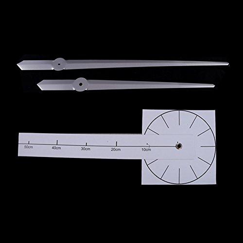 MFEIR® Reloj de Pared 3D con Números Adhesivos DIY Bricolaje Moderno Decoración Adorno para Hogar Habitación negro