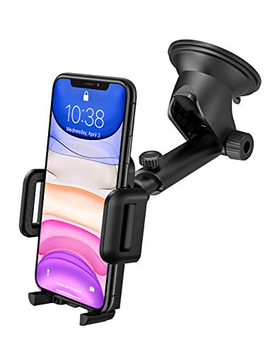 Mpow Handyhalter fürs Auto Handyhalterung Auto KFZ Smartphone Halterung Armaturenbrett/Windschutzscheibe Universal autohandyhalter,2 in 1 HandyHalter Auto für iPhone11 Pro/XS/8,Galaxy S10/S9/S8 & GPS