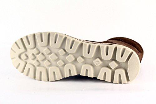 MARCO TOZZI Damen Boots FEDERLEICHT Reißverschluss LEDER muscatbraun Braun