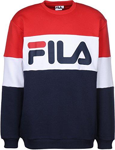 Fila Sweat Straight Blocked red white Blau Rot
