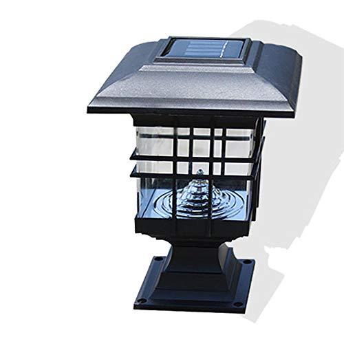 Solarpfosten-Kappen-Licht-Solarpfosten-Lampen-Wasserdichte Garten-Landschaft Beleuchtet Led-Weg-Lampe Im Freien Wetterbeständig Für Im Freiengarten-Gebrauch. Reines Weiß