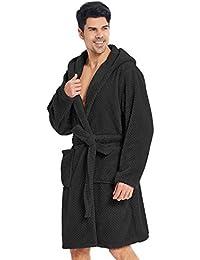 2a2a7bac7c Bathrobe XXXL Short Women Men Unisex Hooded Dressing Gown Microfibre Soft  Snug Cosy Fleece