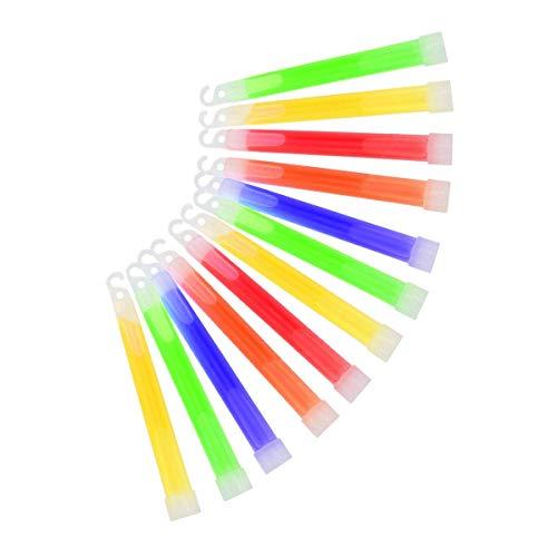 TOYANDONA 12 STÜCKE Glow Light Sticks mit Haken Party Supplies für Camping Parteien Bars Feste Feiern (Mischfarbe)