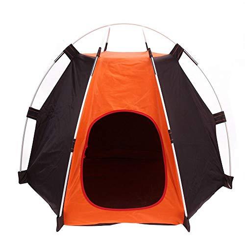 Morning May Tragbares Campingzelt für Haustiere, Hunde, Katzen, Käfig, Zelt, Katze und Hunde, einfache Handhabung, sechseckig, Abdeckung, wasserfest, waschbar