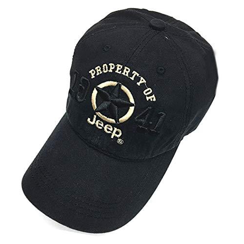 Anywow Classic Baseballmütze Jeep Hut Golf Sportmütze Army Military Combat Cap mit verstellbarem Gurt für Frauen Männer -