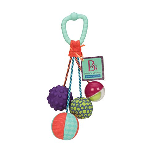 Coupon Matrix - B. CM© toys – Sounds So Squeezy – Rattle Ball – Sensory CM© toy with Colors - BPA free