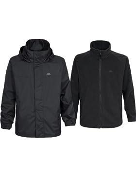 Trespass Men's Brano 3 en 1 chaqueta para hombre - Negro, X-Grande
