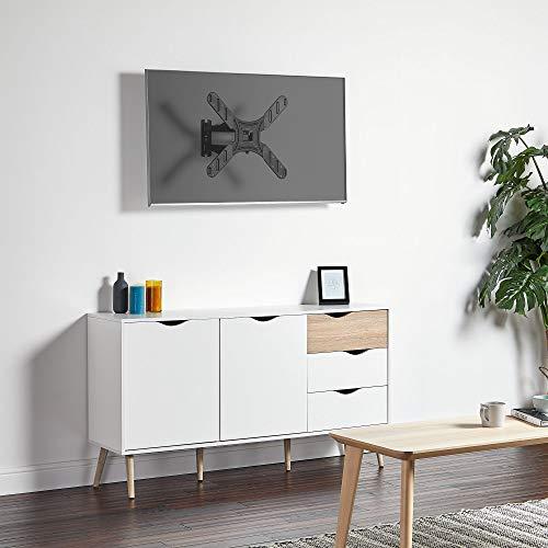 VonHaus 17-56 Inch TV Wall Bracket - Tilt and Swivel Mount for VESA Compatible Screens, 25kg Weight Capacity Img 2 Zoom