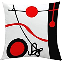 LEEDY 2019 Creativo Funda de Cojín Geométrico Poliéster Funda de Almohada Cintura Throw Cojín Cubierta Decoración