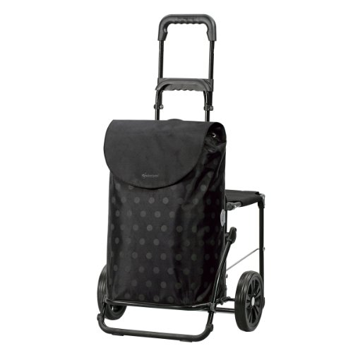 Andersen Shopper Komfort mit Sitz und 39 Liter Tasche Gitti schwarz