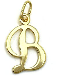Jewelry necklace pendant letter B of 333 gold 14x10mm