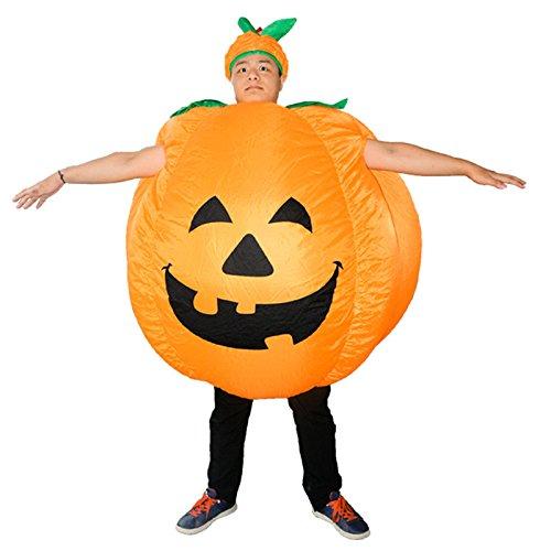 Anzug Kürbis Kostüm - Develoo Aufblasbares Halloween-Kürbis-Kostüm für Erwachsene, aufblasbarer Kürbis-Kostüm, lustiger Anzug
