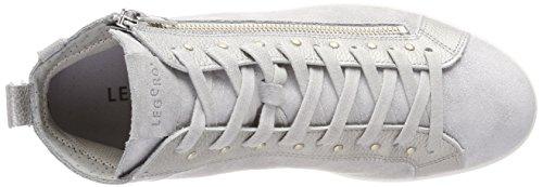 Legero Trapani, Sneaker a Collo Alto Donna Grau (Alluminio)