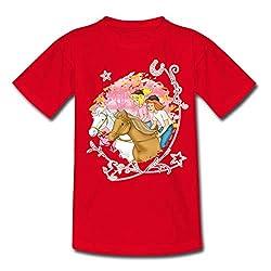 Bibi Und Tina Wettreiten Im Wald Kinder T-Shirt, 110/116 (5-6 Jahre), Rot