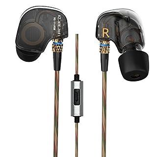 KZ ATE 3,5mm In Ear-Kopfhörer HiFi Metall AURICULARES Kopfhörer Super Bass In-Ear-Kopfhörer für Smart Phone (schwarz Farbe)