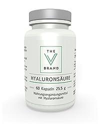 The V Brand Hyaluronsäure I 200 mg fermentiert pro Tag I Beste Qualität aus Deutschland I Haut und Gelenke