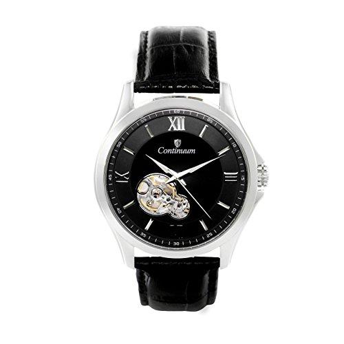 Continuum Herren-Armbanduhr Automatik Analog Leder Schwarz - C15H22