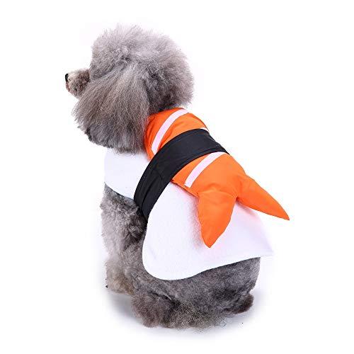 Coppthinktu Sushi Hundekostüm, Halloween, Fischfutter, lustiges Haustierkostüm, X-Large, Mehrfarbig