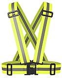 Eximtrade Elastisch Reflektierende Warnweste Reflektorweste Gurtzeug für Fahrrad Radfahren Laufen Jogging Motorrad (Neon Gelb)