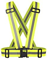 BTR High Visibility Reflective Vest, Bib, Sash. Ideal For Cycling, Running, Hiking and More. One Size Fits All