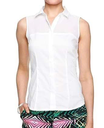 s.Oliver BLACK LABEL Damen Bluse 11.306.13.2741, Gr. 38, Weiß (0100)