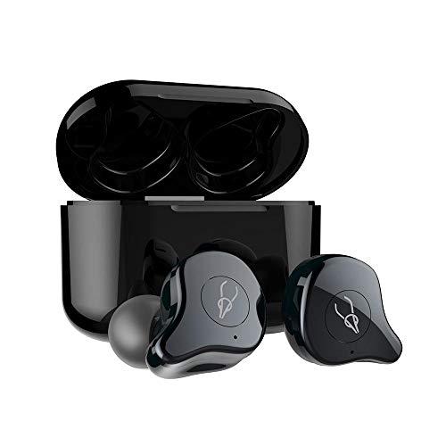 LayOPO Echte Kabellose Ohrhörer Bluetooth 5.0, IPX5 Wasserdichte HiFi-In-Ear-Kopfhörer Mit 6 Paar Ohrkappen, Easy-Pair Wireless-Bluetooth-Headset Mit Ladekoffer -