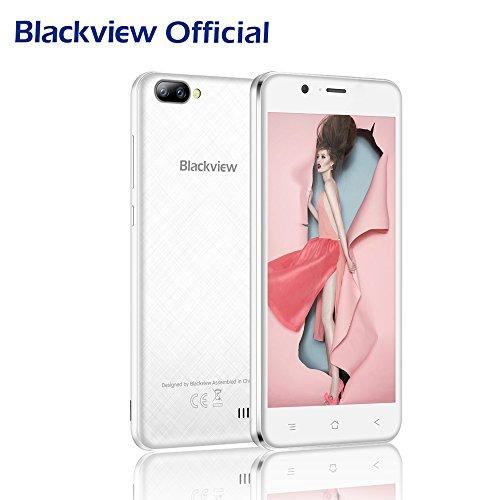 Blackview Móviles Baratos, A7 Smartphone Libres - Android 7.0 Dual Cámara Trasera 3G Smartphones (8GB ROM, 5.0...
