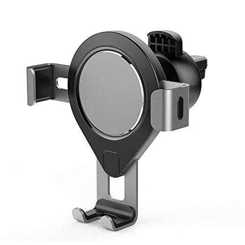 AFfeco 360 Rotate Gravity Car Phone Holder Air Vent Mount for 4-6 inch (Silver) (6-zoll-air-vent)