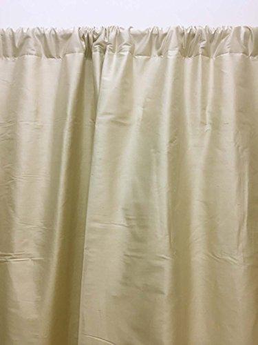 Dupioni Seide (Craftbot Dupioni Vorhang für Fenster oder Tür, Seide, einfarbig, 132 x 244 cm, Hellbeige)
