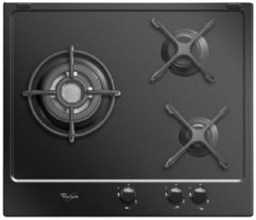 Whirlpool AKT653NB Plaque de Cuisson Gaz Intégrable 59 cm Noir