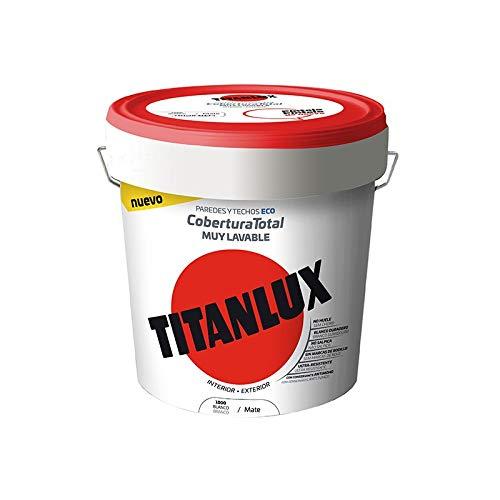 Pintura Plástica Blanca Titanlux Cobertura Total - 15 L