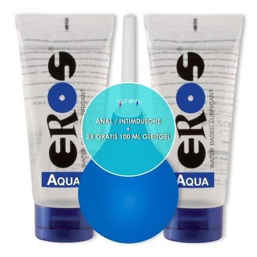 Klistier Analdusche + 2x Eros Aqua Gleitgel 100 ml : Anal/Intim Hygiene Frauen Damen Dusche Pflege Set