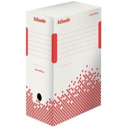 25 scatole archivio speedbox 150 - 35x25x15cm esselte 74727 doppie pareti e doppio fondo per la massima tenuta 100% di cartone riciclato e riciclabile dorso 15cm