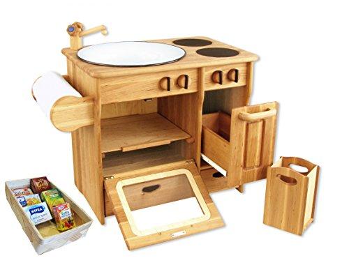 932-2042 DL Drewart Kinderküche mit Zubehör Spielküche Massivholz
