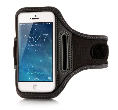 vau ActionWrap - Sport-Armband Tasche kompatibel zu Apple iPhone 5S / 5C & iPhone SE Sportwrap Armband