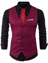 Homme Gilet Costume Veste Slim Fit sans Manches Business Mariage  Multicolore Taille S-XXL 8f8c33b94e2