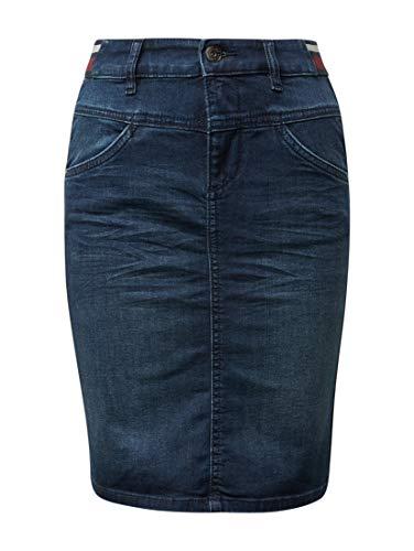 TOM TAILOR Casual Damen Jeans Rock, Blau (Dark Blue Denim 10136), Herstellergröße: 38 -